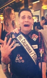 Mark Salling as a beauty pageant winner