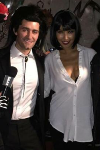 Matthew Morrison and new wife Renee Puente as Vincent Vega and Mia Wallace from Pulp Fiction
