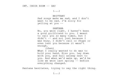 brittana 'the break up'