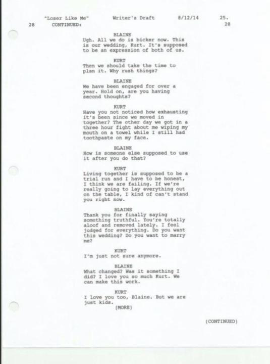 klaine breakup LLM 2